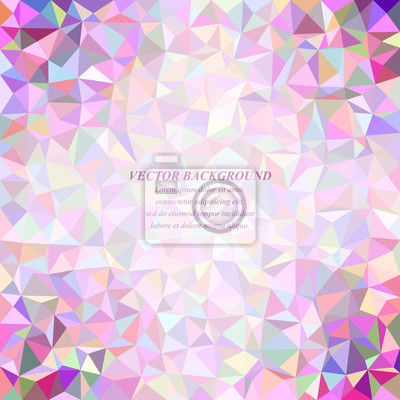 Happy colorful abstract tiled triangle mosaic background