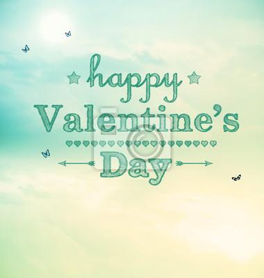 Happy Valentines Day mit kleinen Schmetterlingen