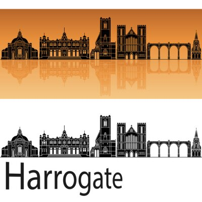 Bild Harrogate skyline in orange