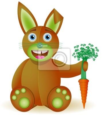 Häschen mit Karotte Spielzeug. Abbildung 10 Version