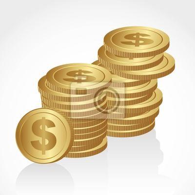 Haufen von Goldmünzen
