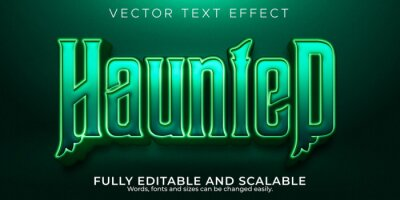 Bild Haunted editable text effect, dead and scary text style