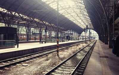 Bild Hauptbahnhof in Prag, Tschechische Republik.