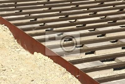 Hausbau Terrasse Unterbau Ix Leinwandbilder Bilder Myloview De