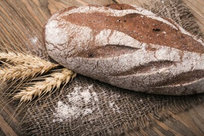 Bild Hausgemachtes Brot, Nahaufnahme