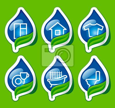 Haushaltsartikel Symbolen