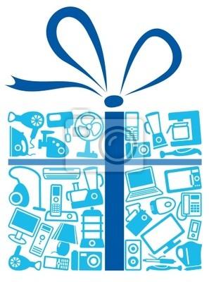 Haushaltsgeräte in Geschenk