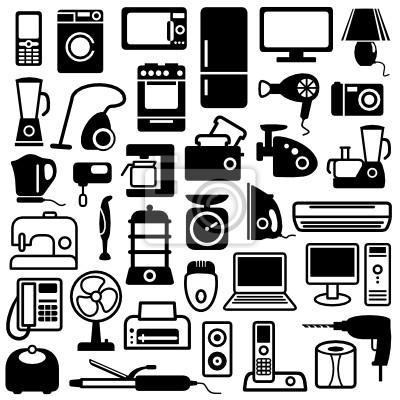 Haushaltsgeräte Symbole