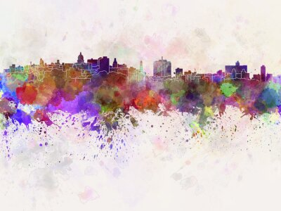 Bild Havana-Skyline in Aquarell Hintergrund