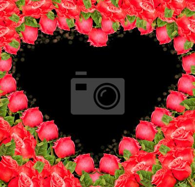 Heart - Grenze von roten Rosen