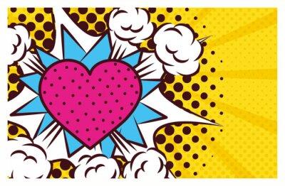 Bild heart love pop art style