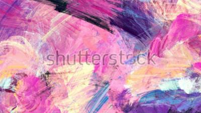 Bild Helle künstlerische Spritzer. Abstrakte Anstrichfarbenbeschaffenheit. Modernes futuristisches Muster. Dynamischer Mehrfarbenhintergrund. Fractalgrafik für kreatives Grafikdesign.