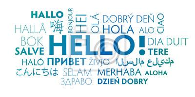 Bild Hello in different languages