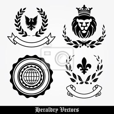 Heraldik Design-Elemente