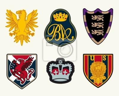 Heraldik, Wappen, Insignien