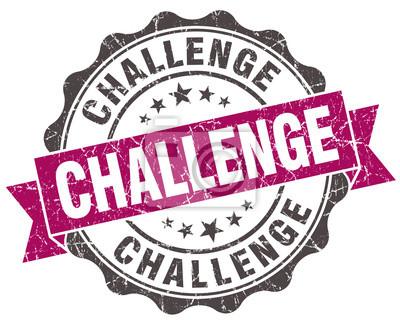 Bild Herausforderung Grunge violet Dichtung isoliert auf weißem