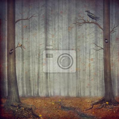 Herbst Wald. Schöne Natur Hintergrund