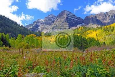 Bild Herbstfarben in den Bergen - Maroon Bells Colorado