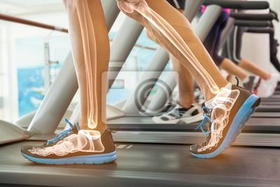 Hervorgehoben Knochen des Menschen auf Laufband