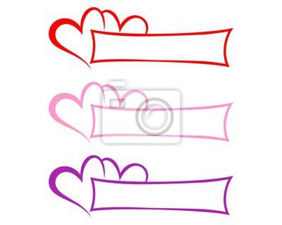 Herz banner vorlage bündel leinwandbilder • bilder herunterladbare ...