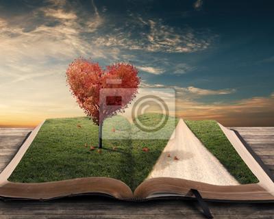 Herz-Baum und Buch