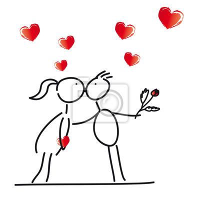 Herz - hochzeit - heirat - verlobung - junges paar leinwandbilder ...