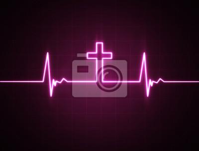 Herz-Monitor mit Quer