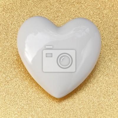 Herz Symbol Valentinstag Goldene Hochzeit Leinwandbilder Bilder