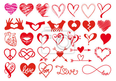 Bild Herz und Liebe, große Vector Set