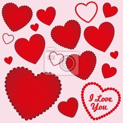 Herzen mit verschiedenen Texturen