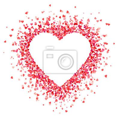 Bild Herzformhintergrund mit roten Herzen