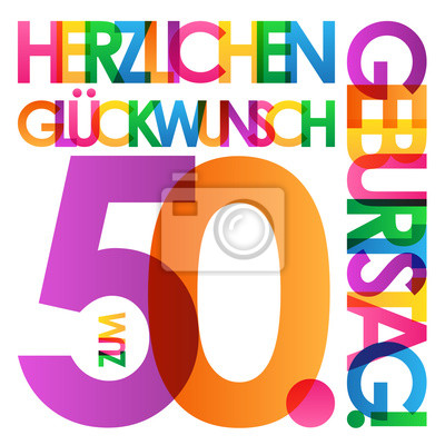 Herzlichen Gluckwunsch Zum 50 Geburtstag Karte Leinwandbilder