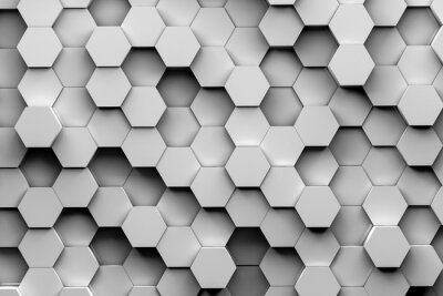 Hexagon hintergrund 3d illustration