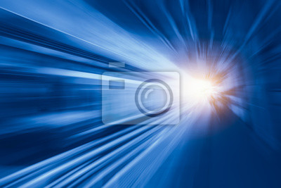 Bild High-Speed-Business-und Technologie-Konzept, Beschleunigung super schnell schnell Bewegungsunschärfe der Bahnhof für Hintergrund-Design.