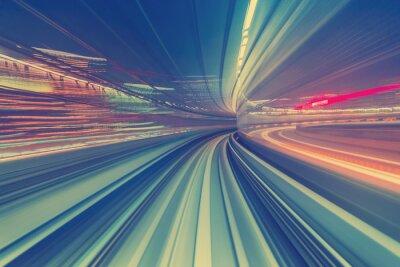 Bild High-Speed-Technologie-Konzept über eine Tokyo Monorail