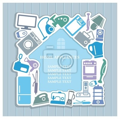 Hintergrund auf Haushaltsgeräten Thema