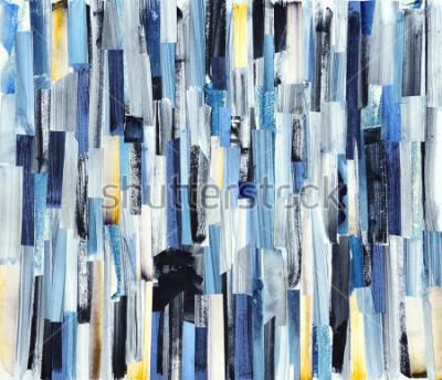 Bild Hintergrund der abstrakten Kunst mit Mehrfarbenstreifen und Teal. Tintenbeschaffenheit auf Papier