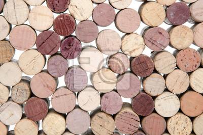 Bild Hintergrund der Weinkorken