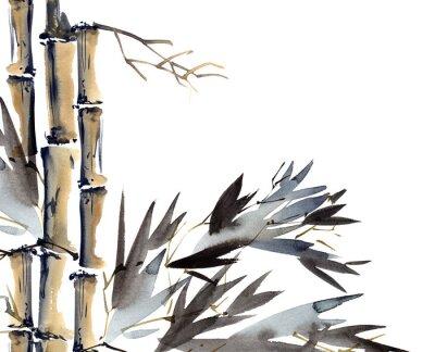 Bild Hintergrund mit Bambus