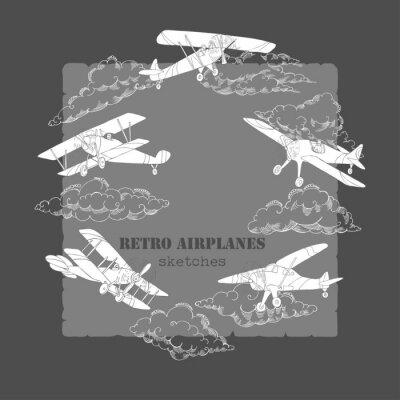 Bild Hintergrund mit Flugzeugen