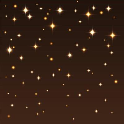 Bild Hintergrund mit glänzenden Sternen in den dunklen Himmel