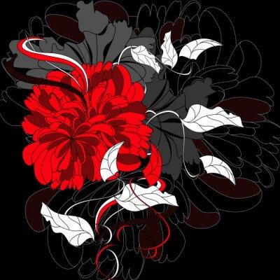Hintergrund mit roter Blume