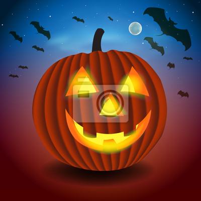 Hintergrund mit unheimlich pumpking, Vektor-Illustration eps10.