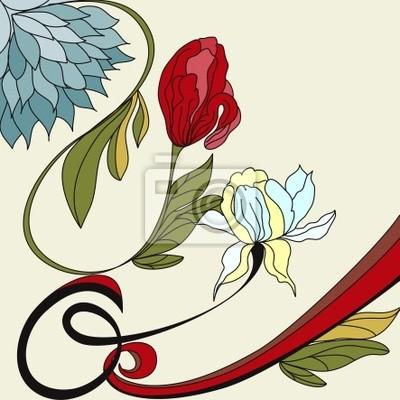 Hintergrund mit Vintage-Blüten