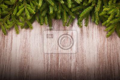 Bild Hintergrund Weihnachten mit Fichtenzweigen