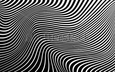 Bild Hintergrund-Wellenauslegung der optischen Kunst abstraktes Schwarzweiss