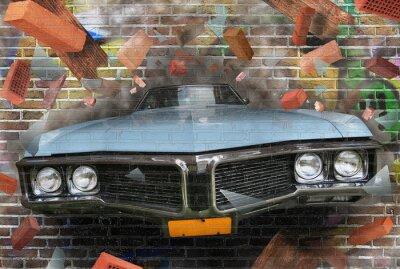 Bild Hintergrundfarbe der Straße Graffiti auf einer Mauer