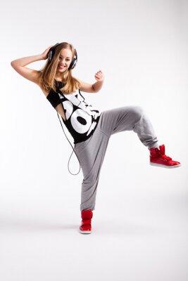 Bild Hip-Hop-Tänzerin mit Kopfhörern