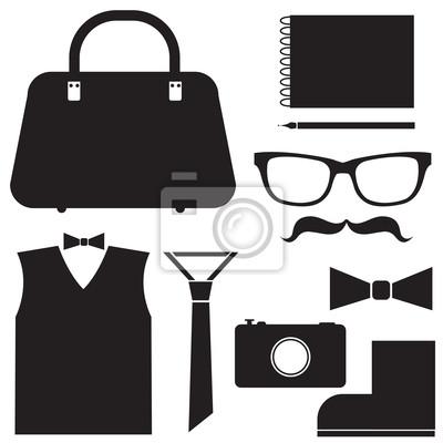 Hipster-Set - Vektor-Illustration