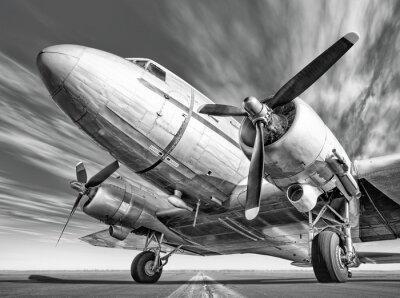 Bild Historischen Flugzeug auf einer Landebahn